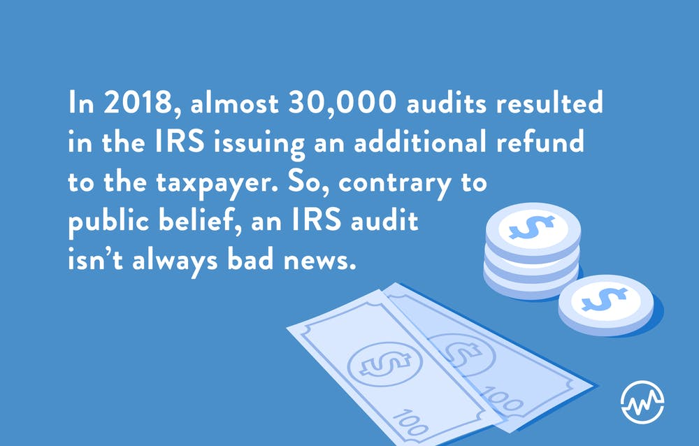 An IRS audit sometimes results in issuing a refund for taxpayers
