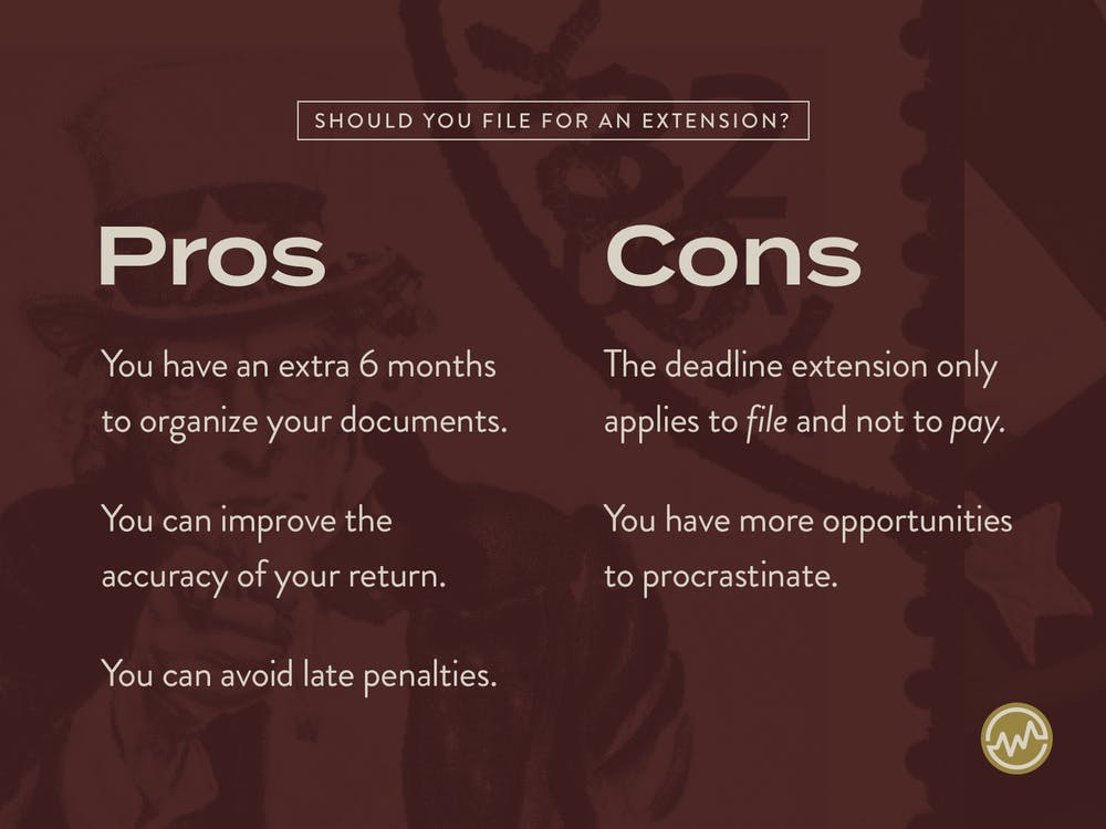 Pros and Cons of filing an IRS tax extension