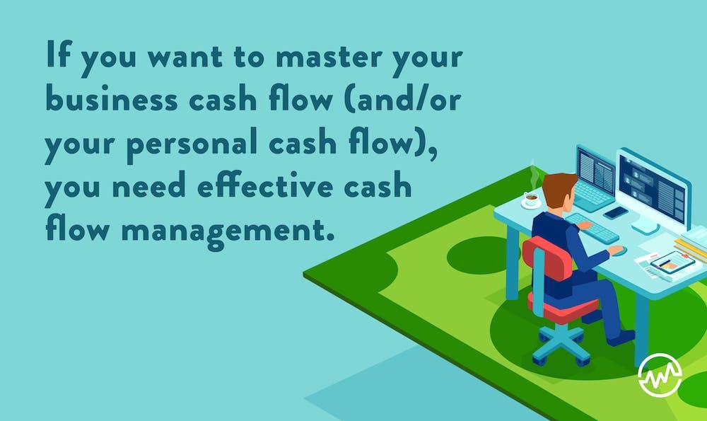 An entrepreneur managing his business cash flow