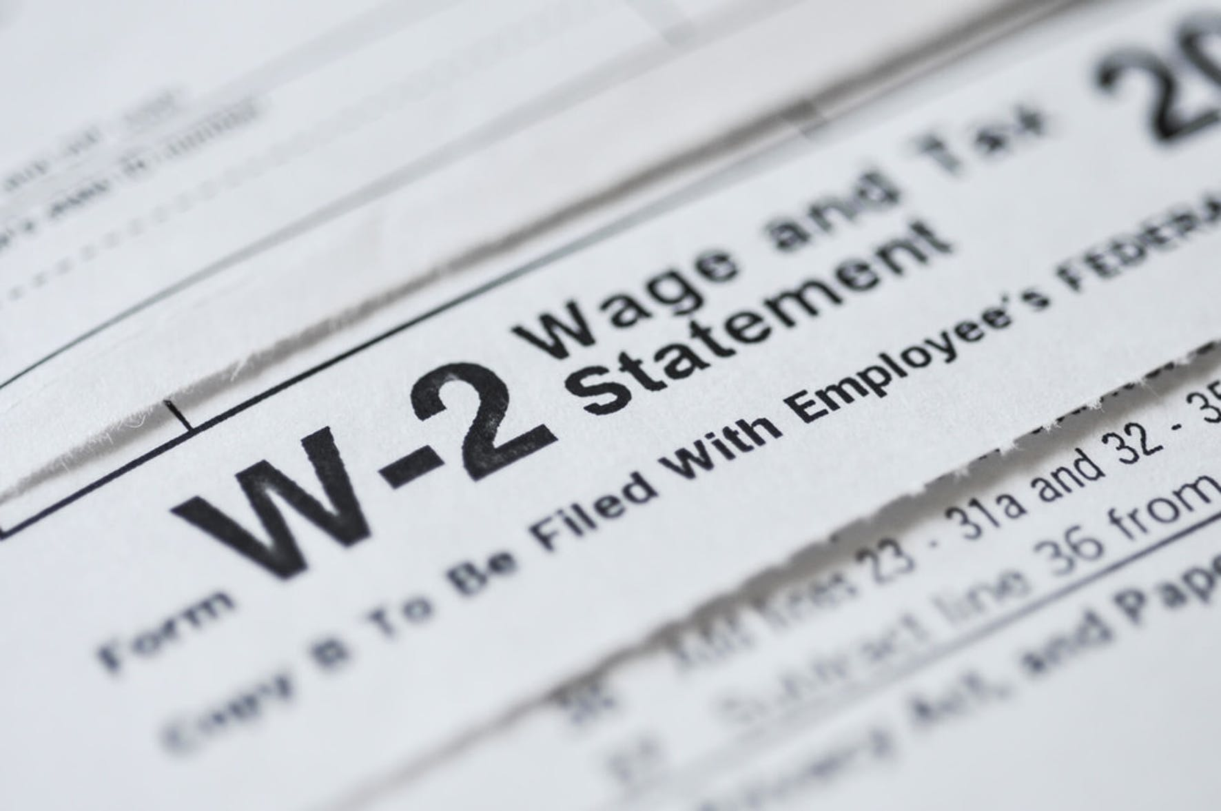 W-2 tax form for disability insurance