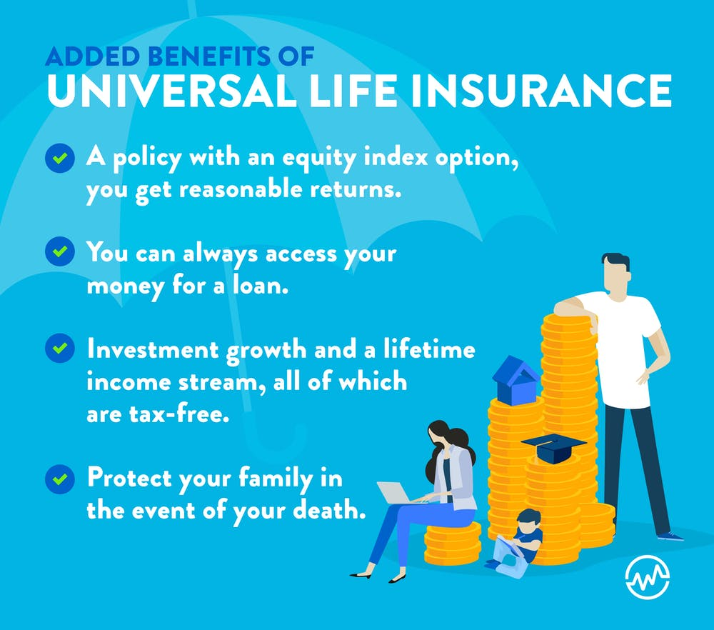 How does life insurance work? Family researching the added benefits of universal life insurance