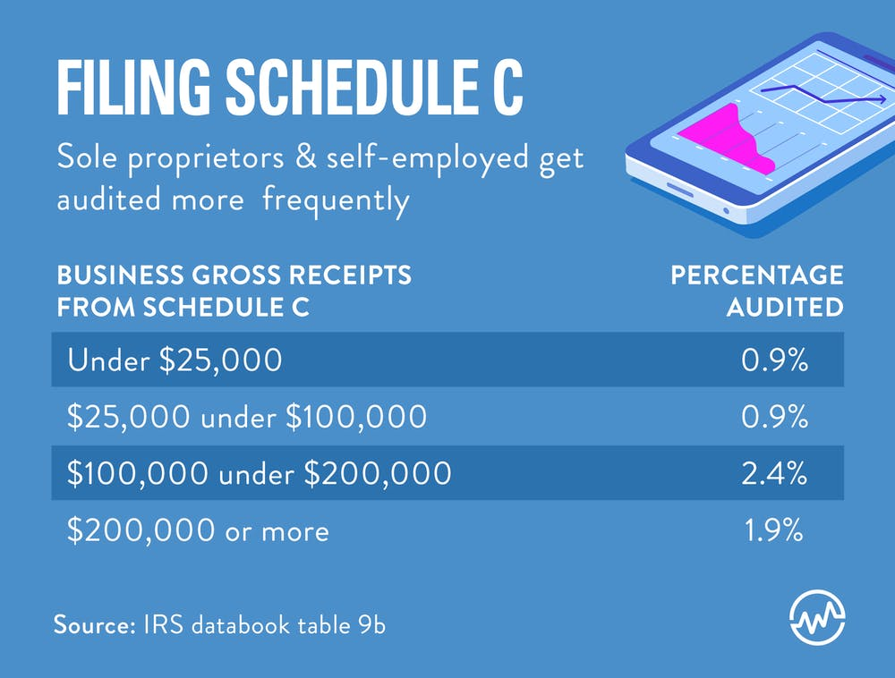 Filling Schedule C can trigger an IRS audit