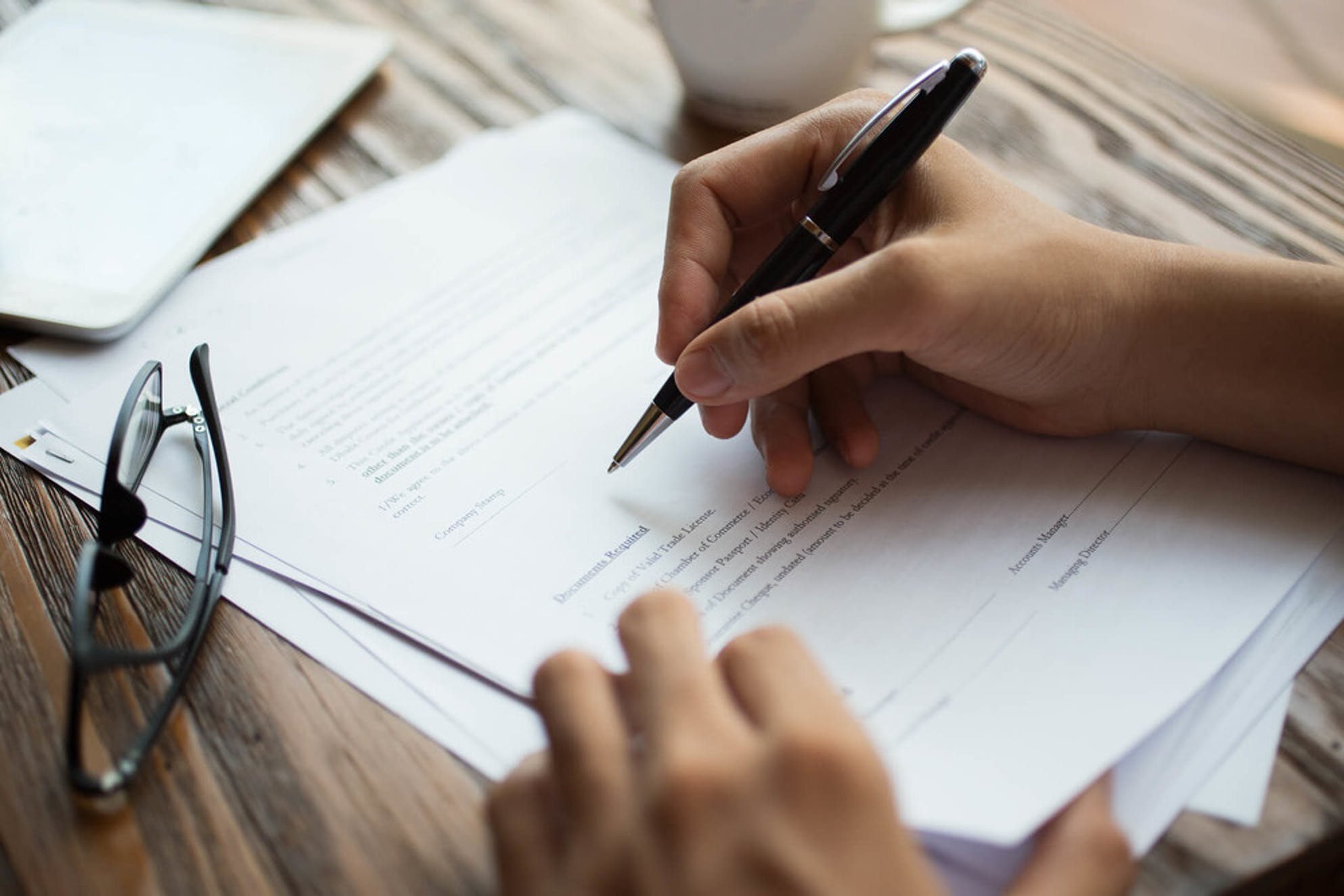 FHA Loan Process paperwork
