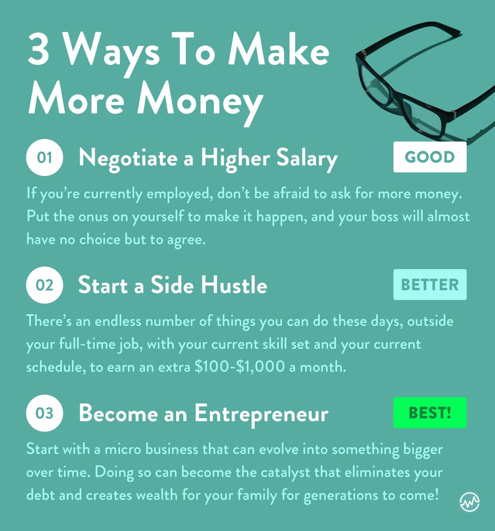 3 ways to make more money so that you can get rid of bad debt