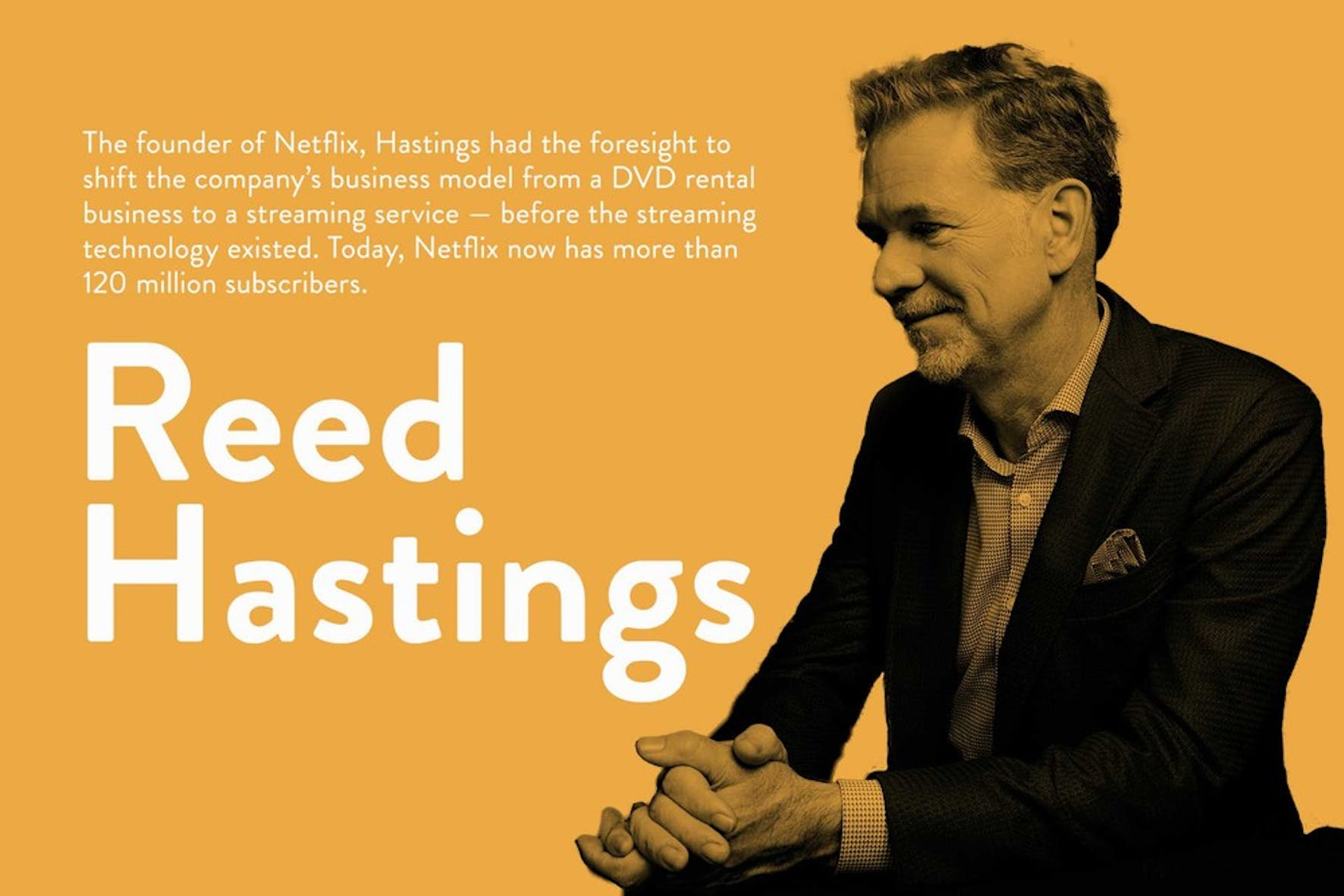 What is a visionary leader? Netflix's Reed Hastings on being a visionary leder