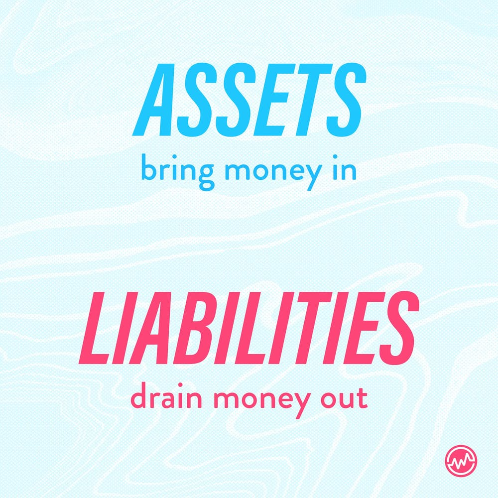 The difference between assets and liabilities
