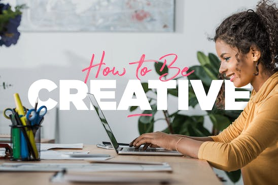 A woman learning how to be creative
