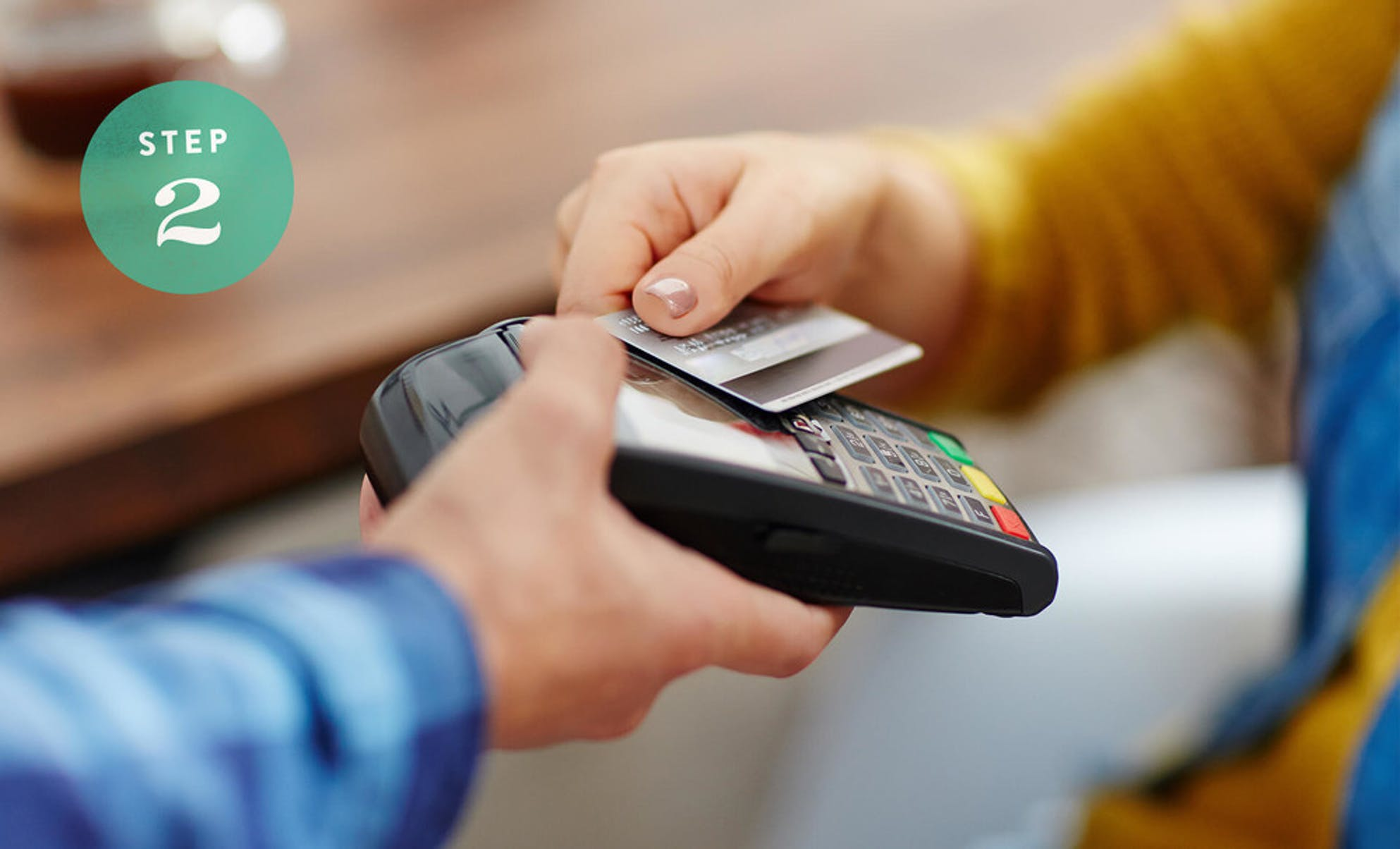 Purchasing an item using a credit card