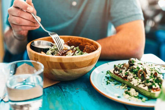 An entrepreneur sticking to a diet