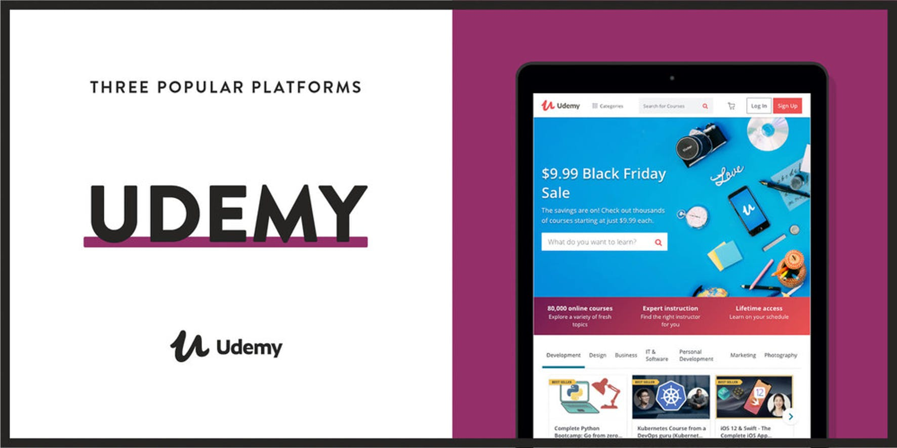 Udemy is a popular platform to create and sell courses