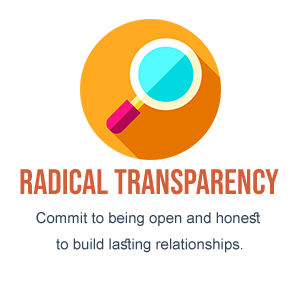 Radical Transparency - Commit to being open and honest to build lasting relationships