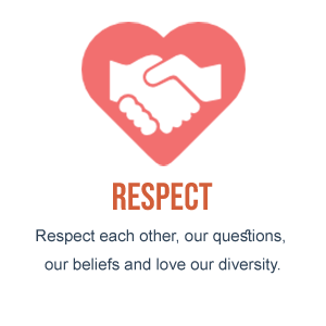 Respect - Respect each other, our questions our beliefs and live our diversity