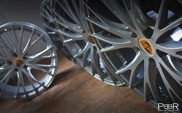 Porsche Macan Turbo RS Spyder sparkling silver Silber