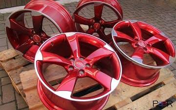 Audi Rotor Felgen candy rot Rot