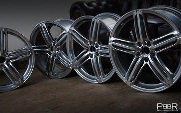 Audi 5 Segmentspeichen chrome mirror Silber