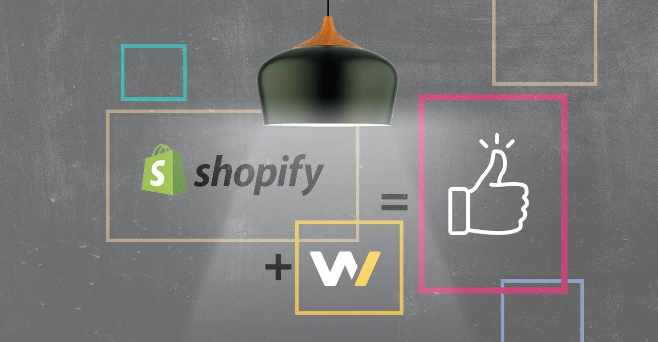 Représentation schématique de l'accompagnement de l'agence digitale Webqam pour la production du site d'Aluminor via le CMS Shopify.