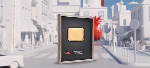 Extrait d'une vidéo personnalisée dans laquelle YouTube remercie ses youtubers ayant le plus grand nombre d'abonnés