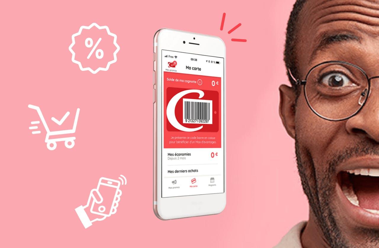 Application mobile Casino Max présentée dans un smartphone