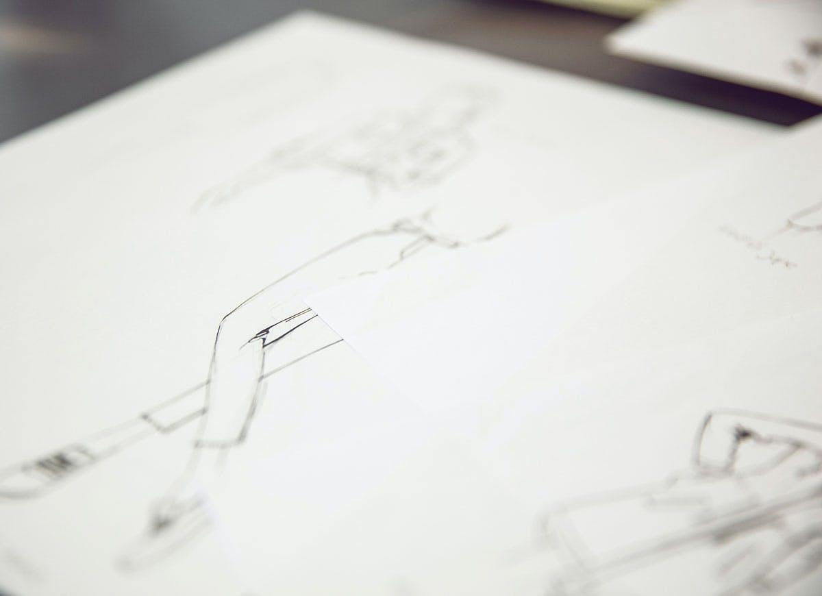 Fashion Design: Entwurfsskizzen