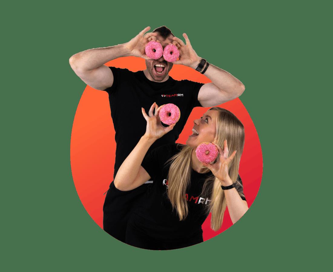 Richie and Rachael doughnut eyes