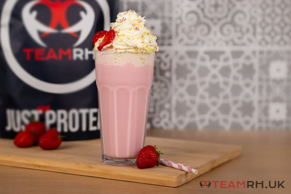 strawberry-protein-milkshake