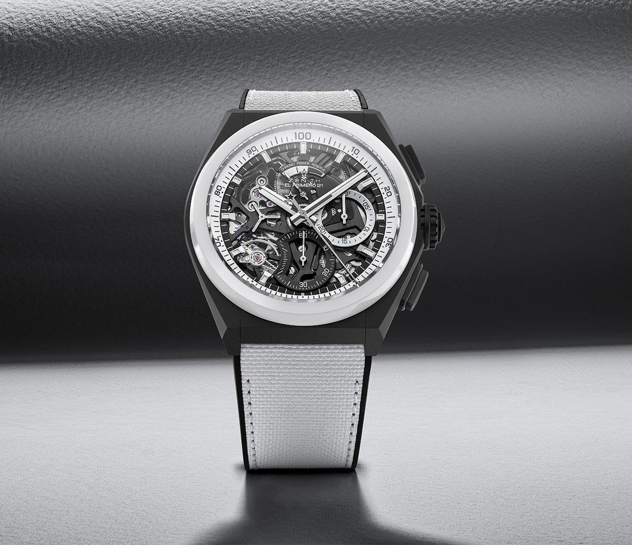 ZENITH真力时特别呈献两款大胆瞩目的精美腕表,DEFY 21和DEFY Classic经典黑白腕表