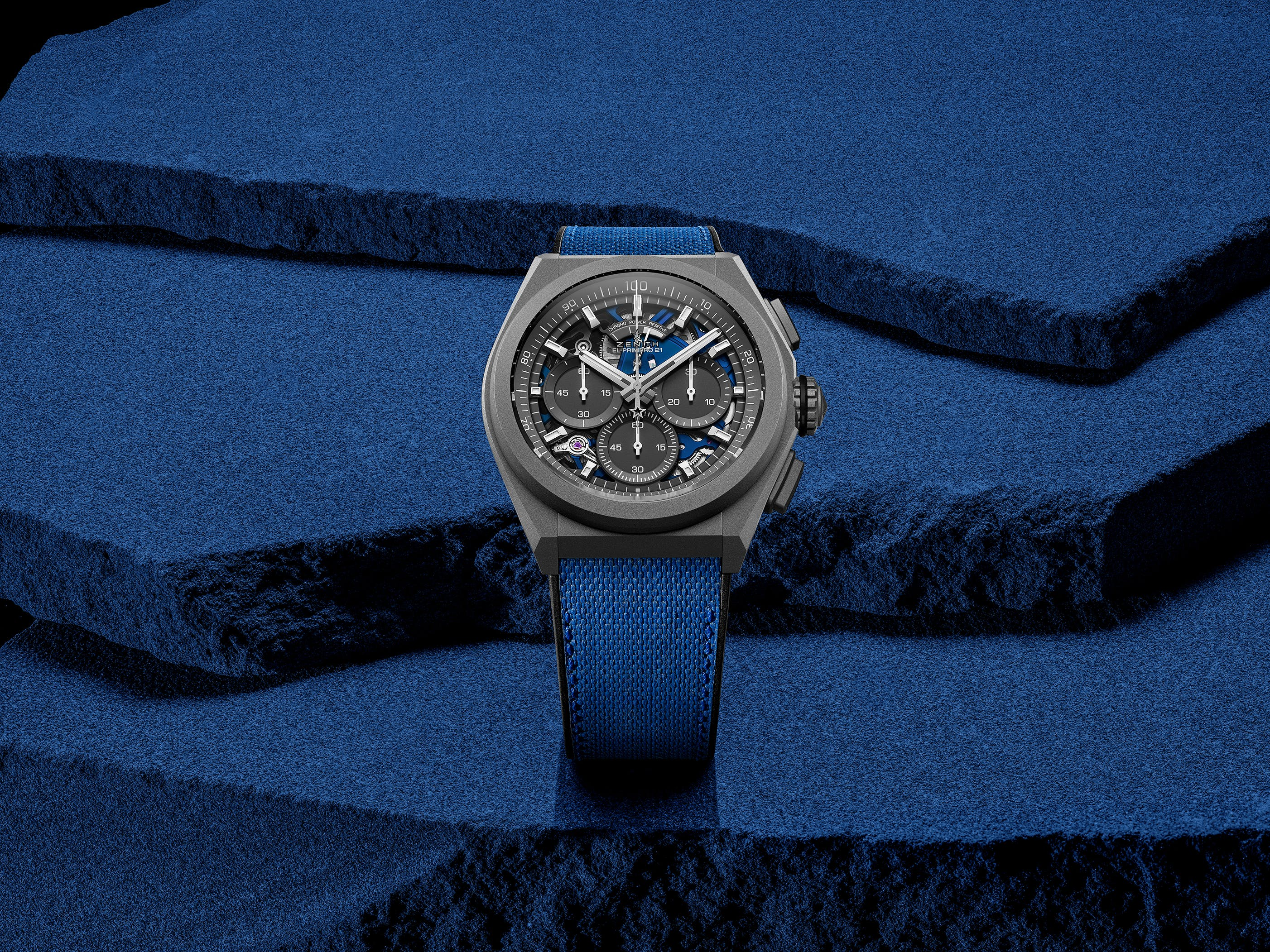 CHROMATICS IN MOTION: ZENITH EXPLORES FREQUENCIES OF LIGHT AND MOVEMENT WITH THE DEFY 21 ULTRABLUE