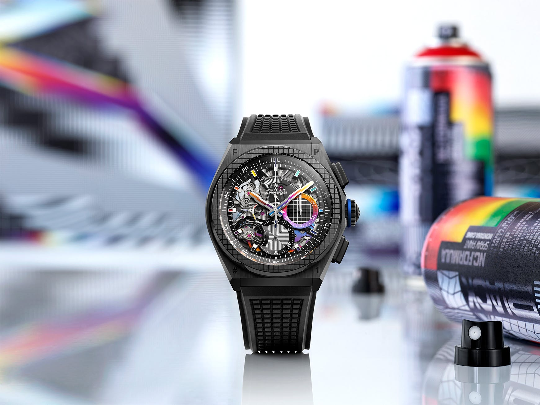 ZENITH AND FELIPE PANTONE COLLABORATE TO CREATE THE MANUFACTURE'S FIRST WATCH DESIGNED WITH A CONTEMPORARY ARTIST