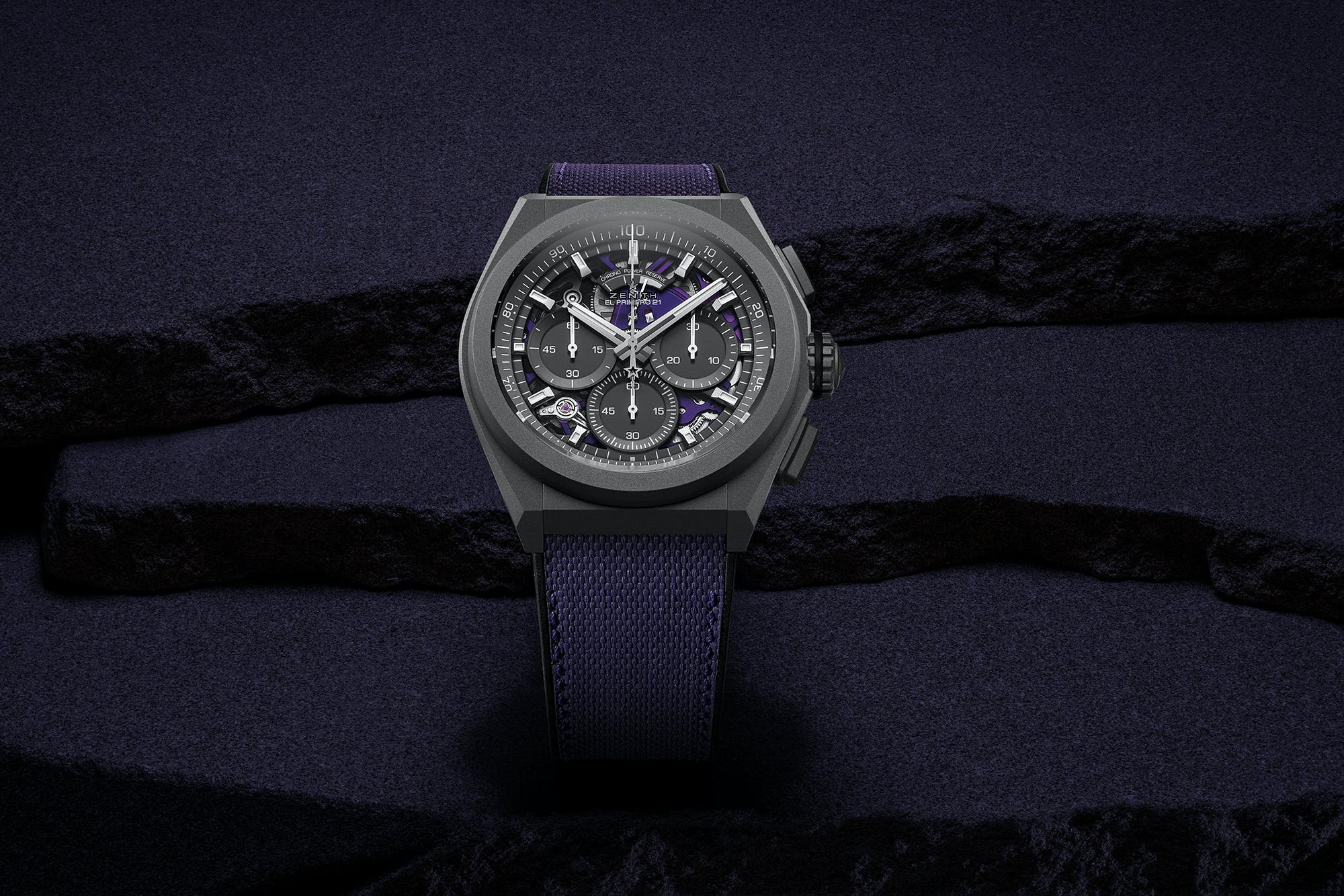ZENITH EXPLORES A NEW SPECTRUM OF COLOUR WITH THE FIRST VIOLET CHRONOGRAPH MOVEMENT: DEFY 21 ULTRAVIOLET