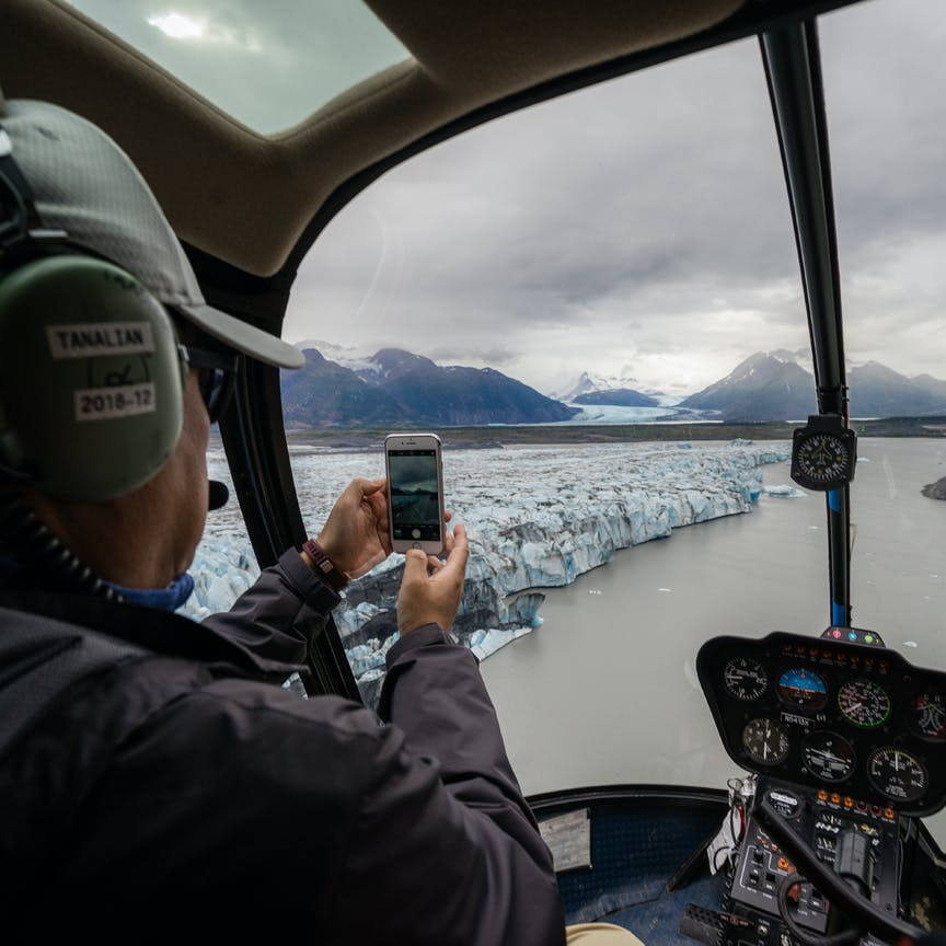 Helicopter flightseeing near Anchorage