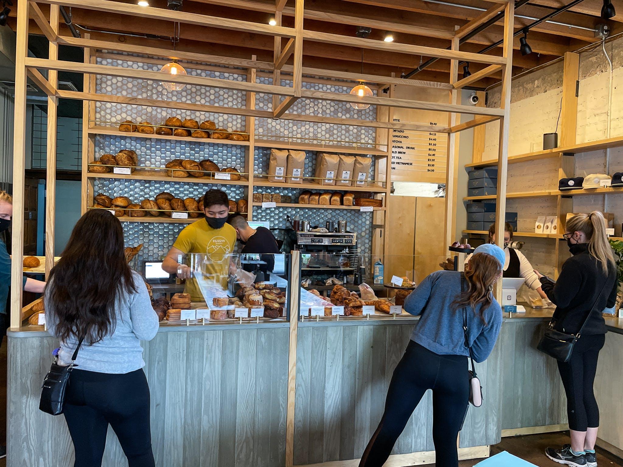 People inside Perenn Bakery