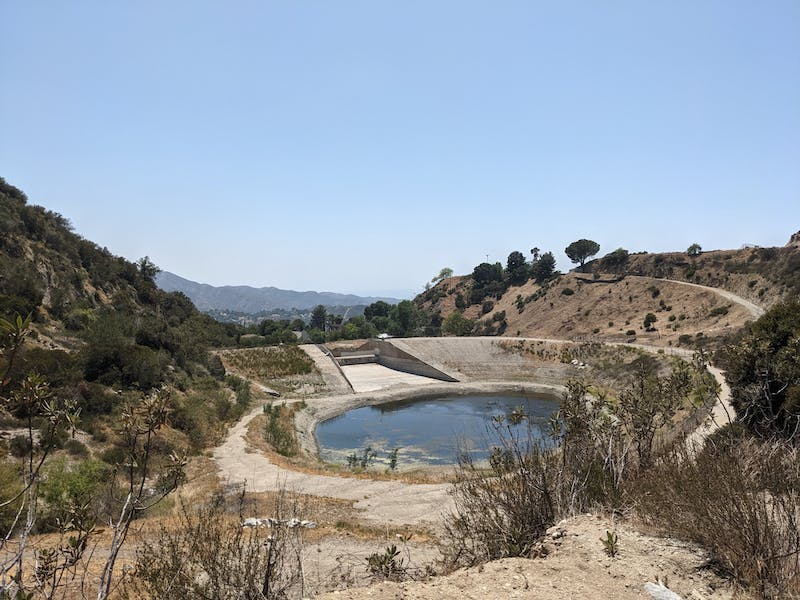 Haines Canyon Debris Basin in the San Gabriels Southern California