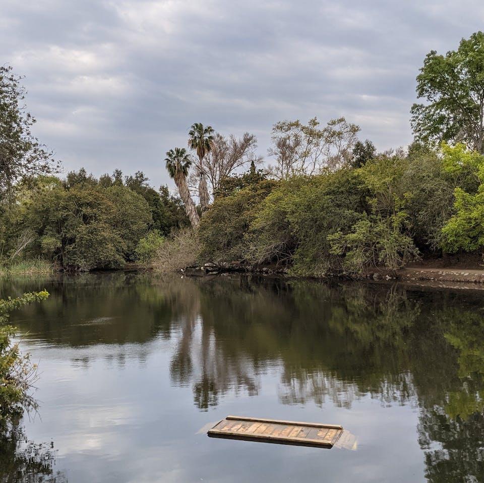 Lake at El Dorado Regional Park in east Long Beach Los Angeles County