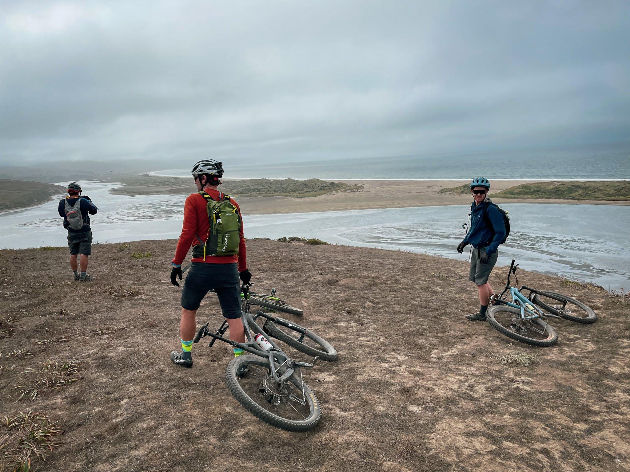 Mountain bikers at Drakes Head Point Reyes