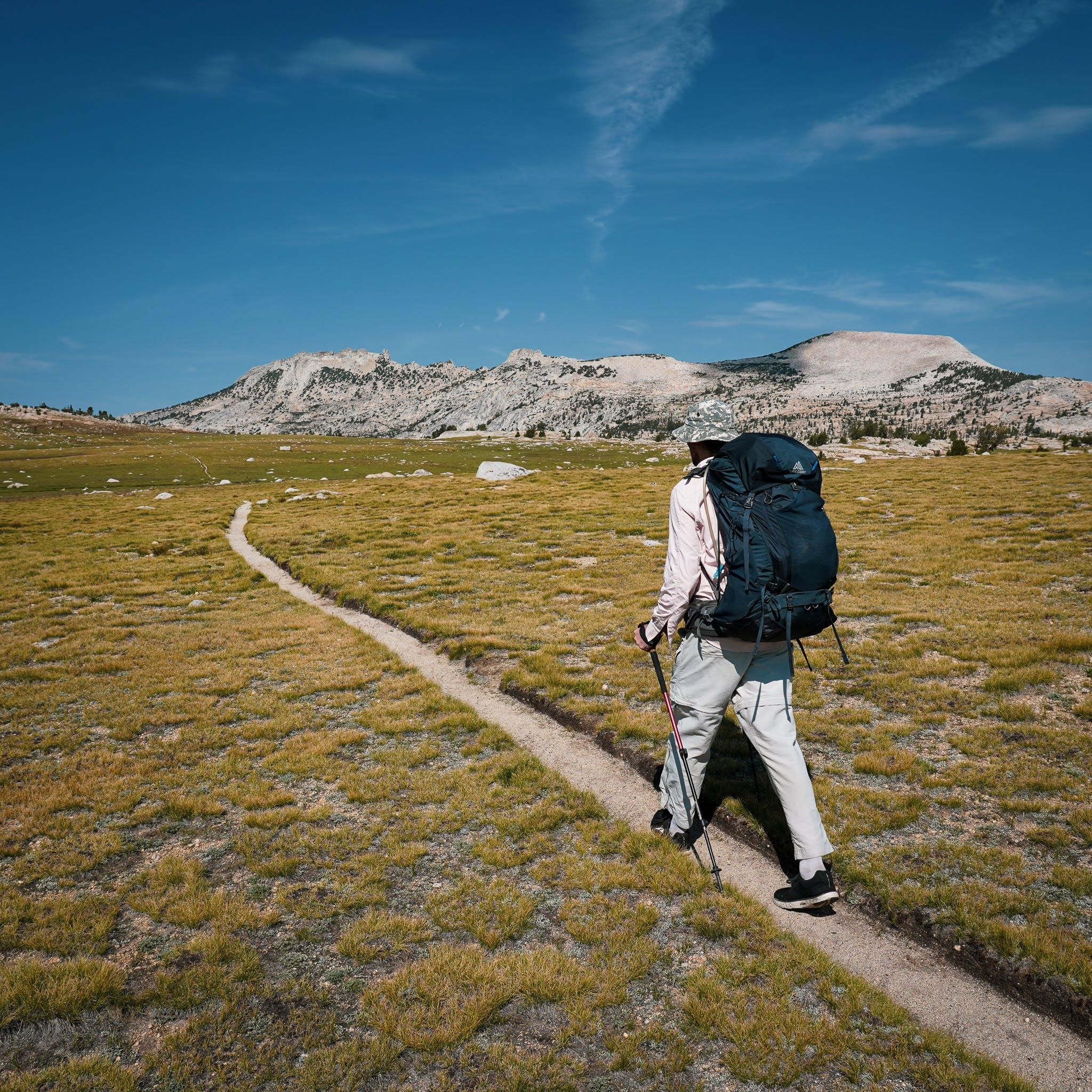 hiker in Yosemite High Sierra