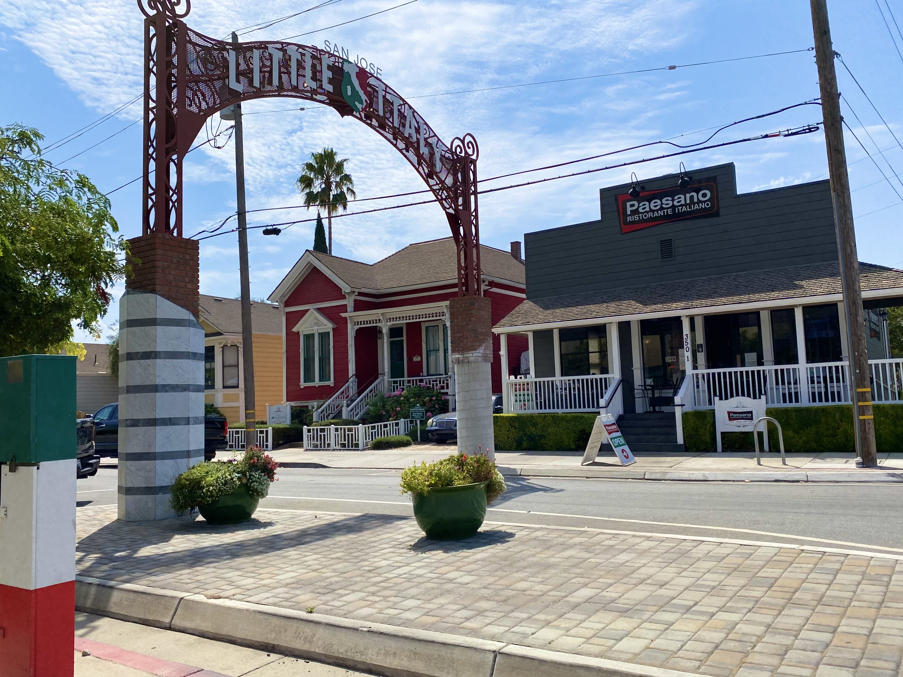 Little Italy archway entrance in Little Italy San Jose