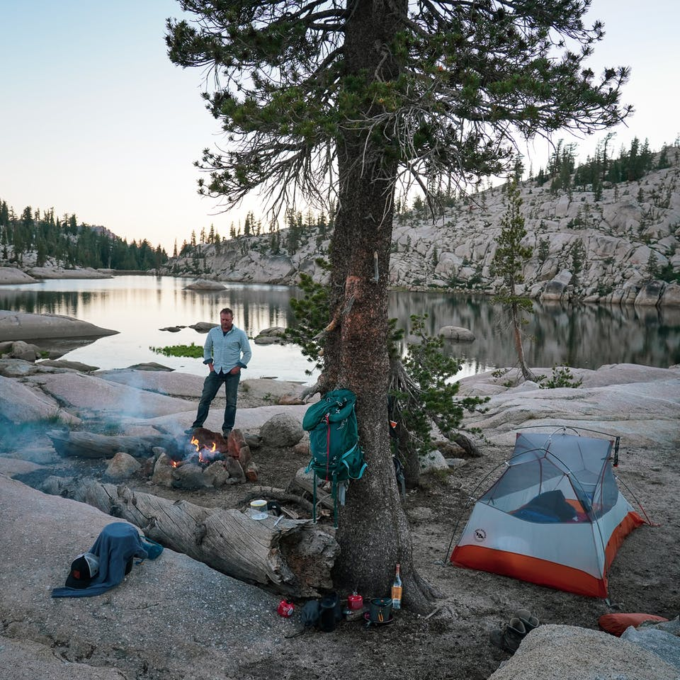 Camping at Y Meadow Lake Emigrant Wilderness