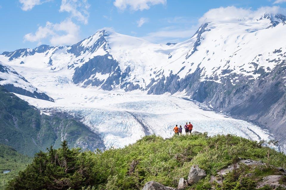 Portage Pass glacier hike near Anchorage Alaska