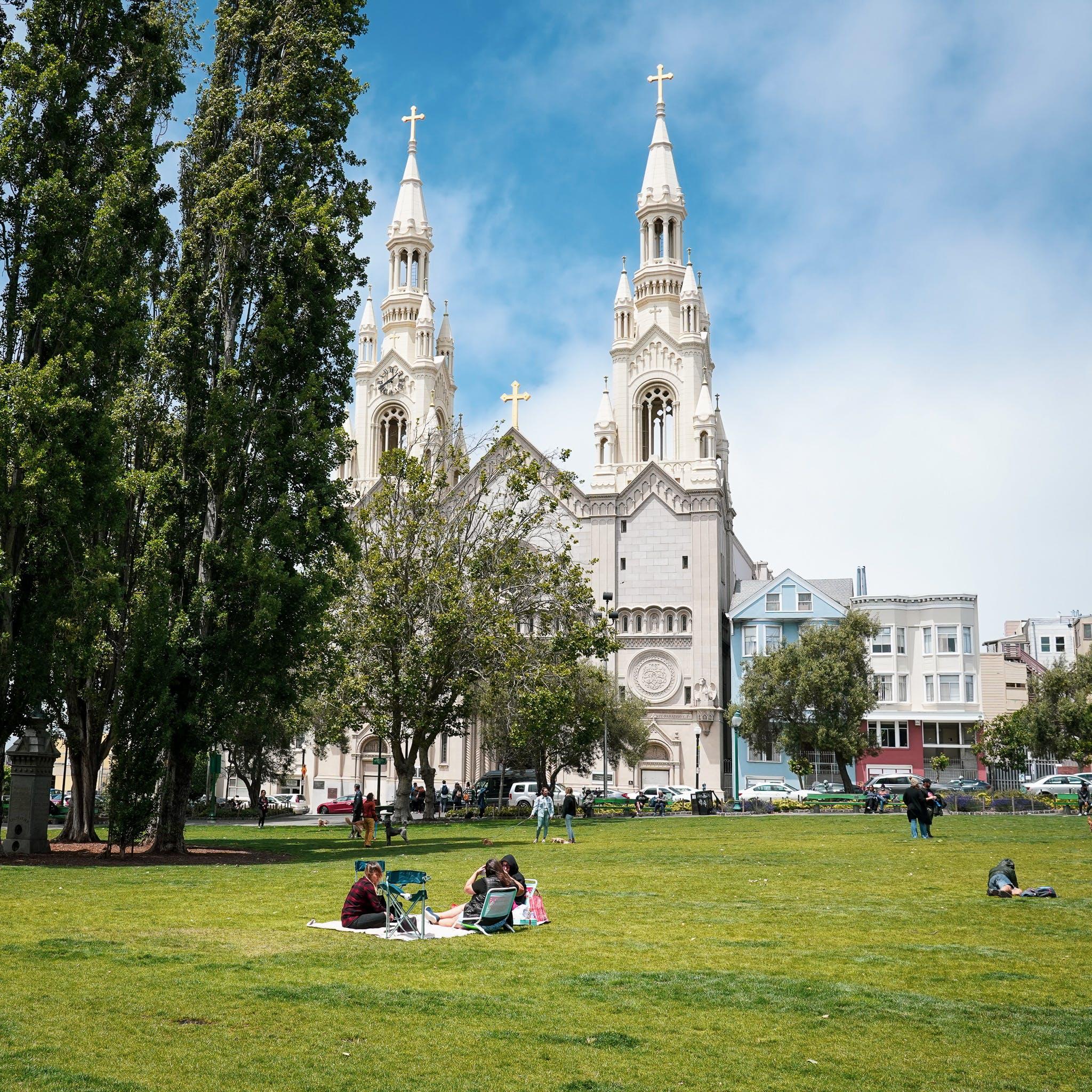 Washington Square Park on Barbary Coast Trail San Francisco