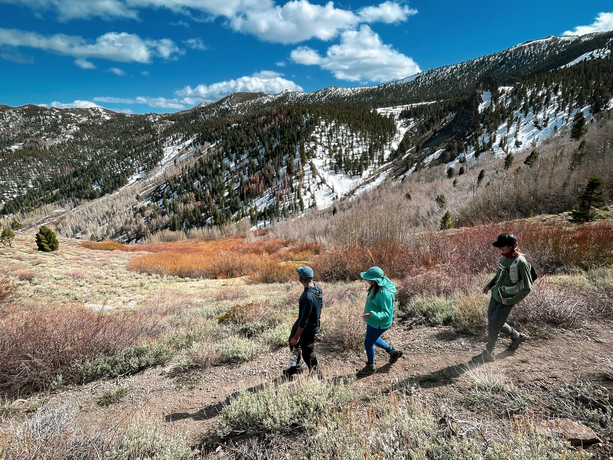 hikers near Reno on Thomas Creek Trail