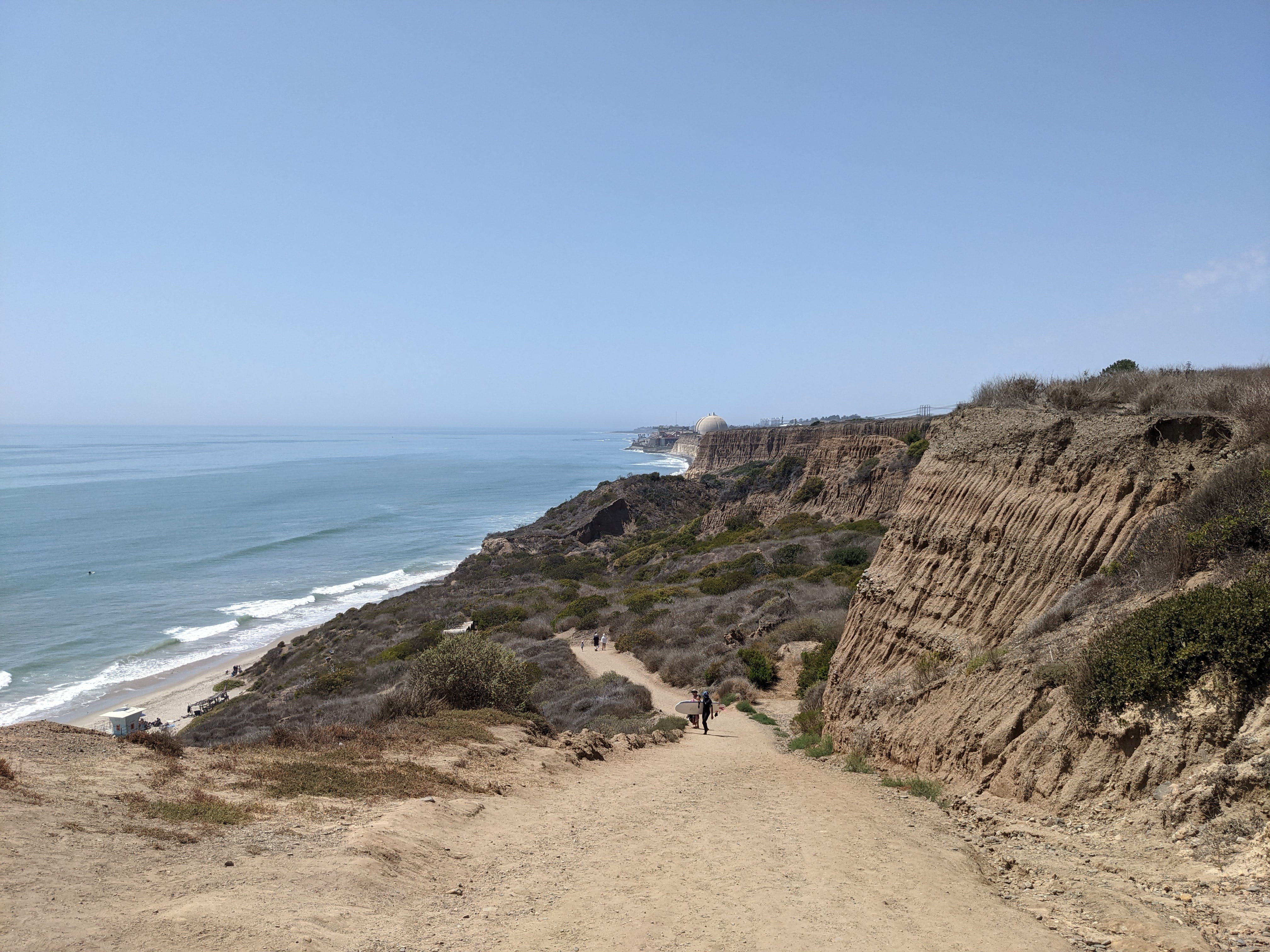 San Onofre Bluffs Trail overlooking San Onofre State Beach in San Diego County