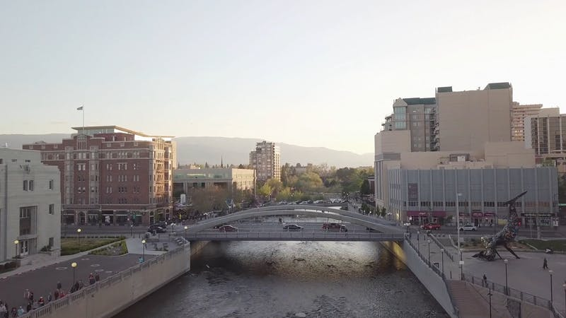 Truckee River and River Walk District in Reno