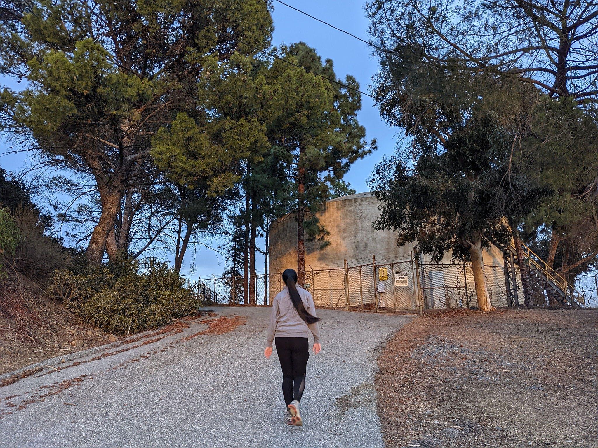 Woman hiking at Briar Summit Preserve in Los Angeles