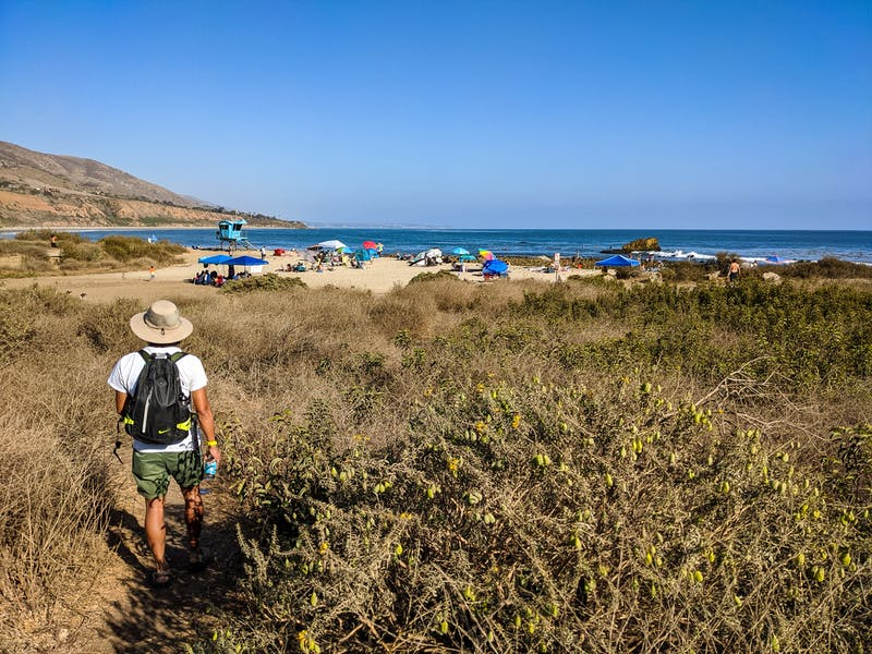 Hike-in to the beach at Leo Carrillo State Park