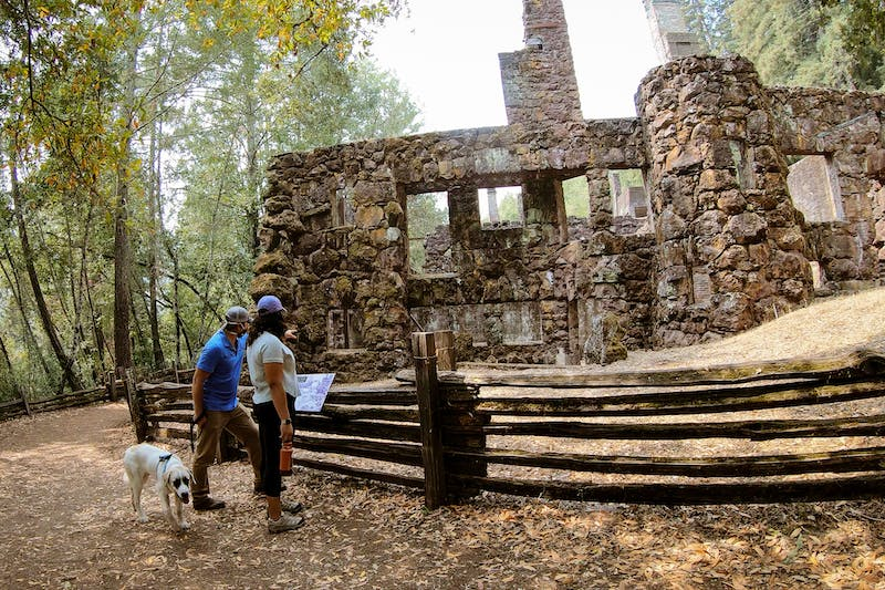 Hike to Wolf House Ruins in Jack London State Park
