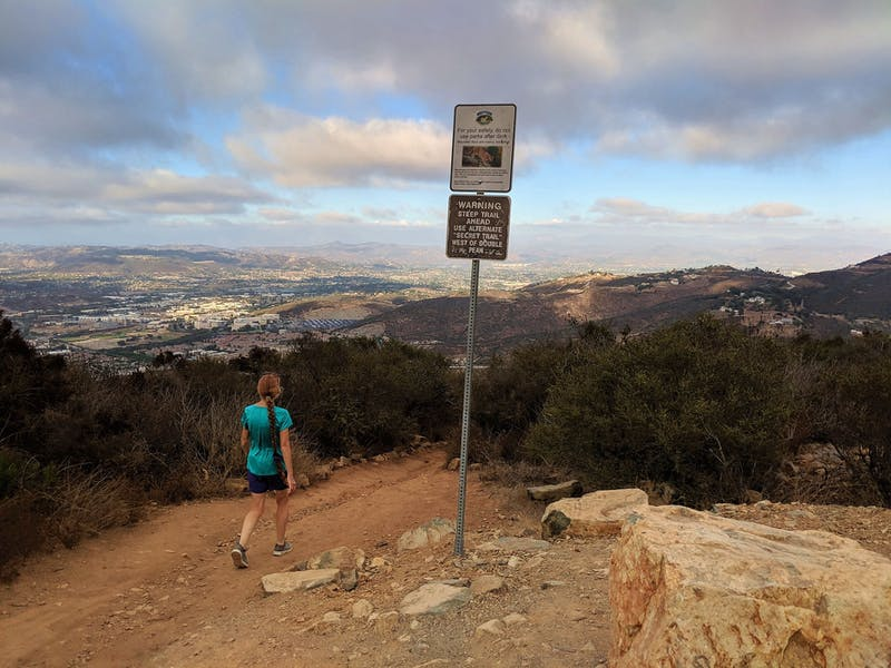 Hike to Double Peak in San Diego County