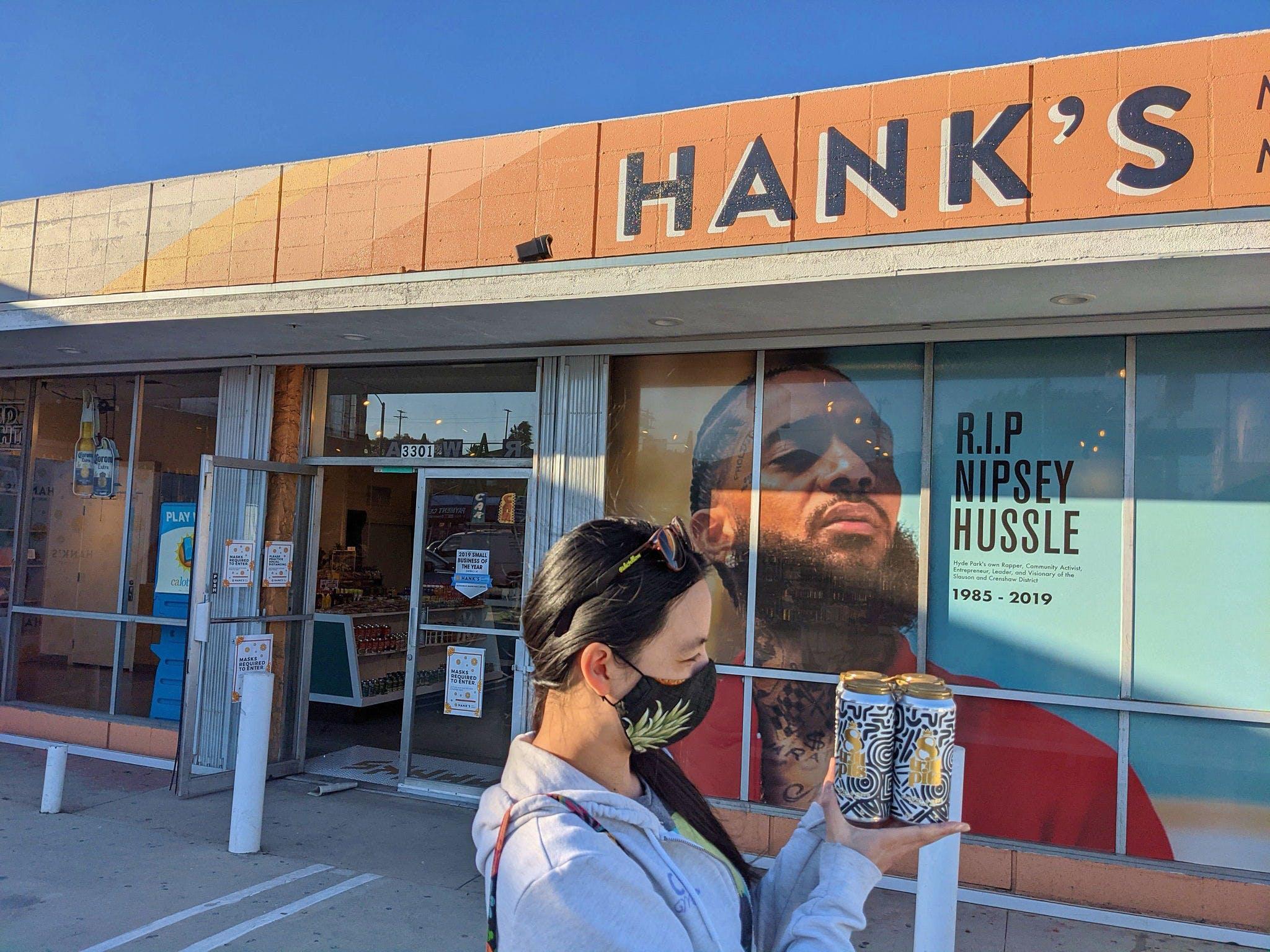 Woman standing in front of Hank