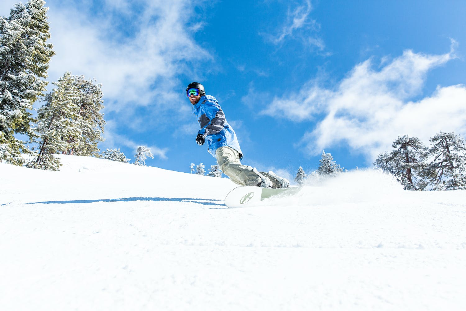 Snowboard winter slopes in Reno Tahoe