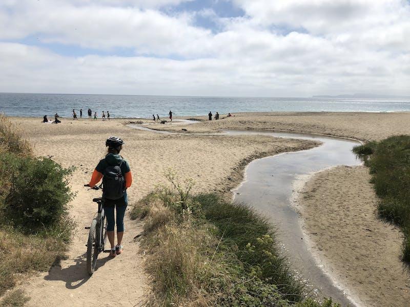 Hike or bike in to Santa Maria Beach