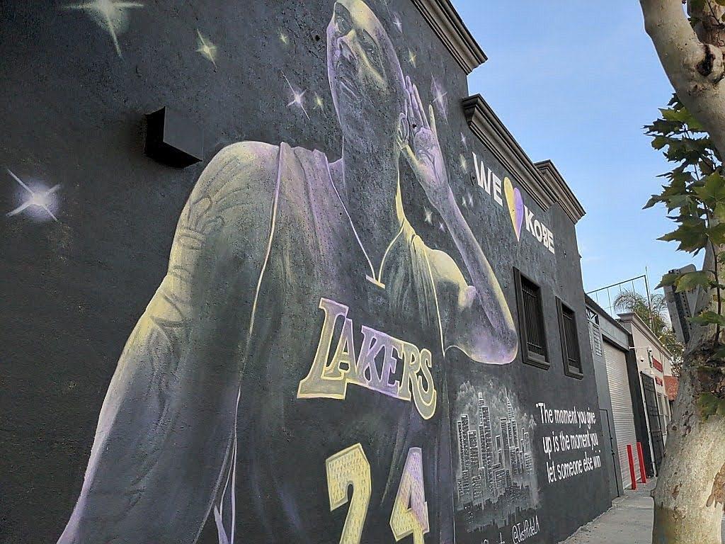 Mural of Kobe Bryant in downtown Los Angeles